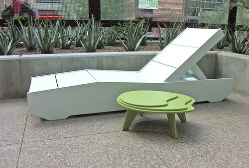 Irwin Weiner ASID   Look At The Cool Topol Table In The Photo Above  Shown  In Leaf Color   And The White De Luge Sunbed From Outdoor Furniture  Innovators ...
