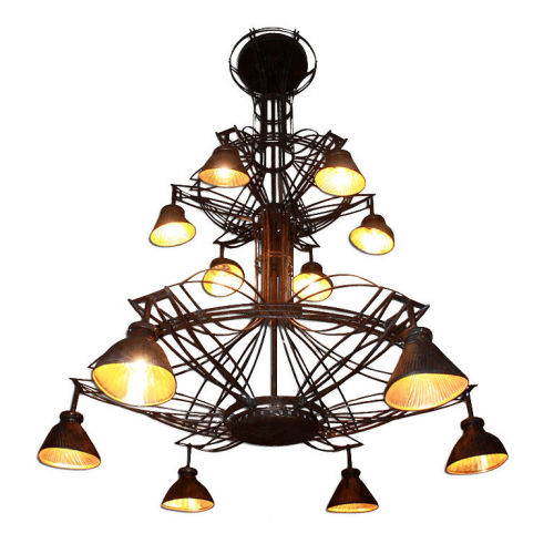 Bygone Paris Dramatic Art Nouveau Chandelier Collectibles – Art Deco Chandelier Lighting