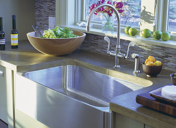 The Kohler Verity Apron Front Kitchen Sink Shown Above Is Made From A Great  Material (stainless Steel) And Is Perfectly Placed (in Front Of A Window),  ...