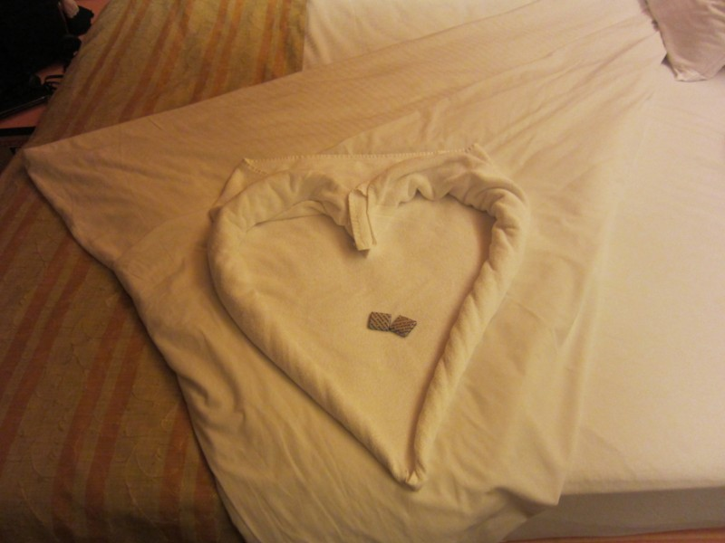 Carnival Cruise towel heart