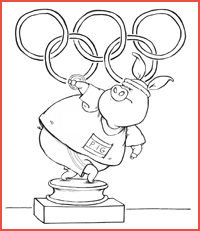 olympic coloring page