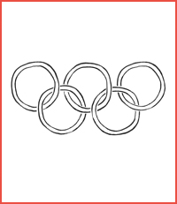 olympic flag craft for kids