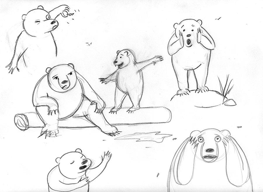 Christine Marie Larsen Bears sketchbook character study
