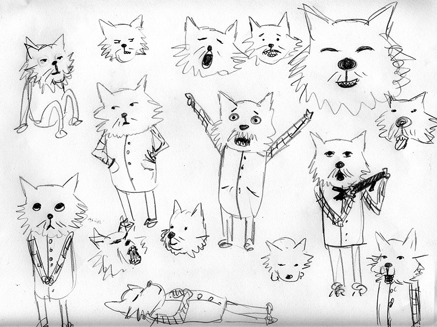 Christine Marie Larsen Illustration Westie West Highland Terrier sketches