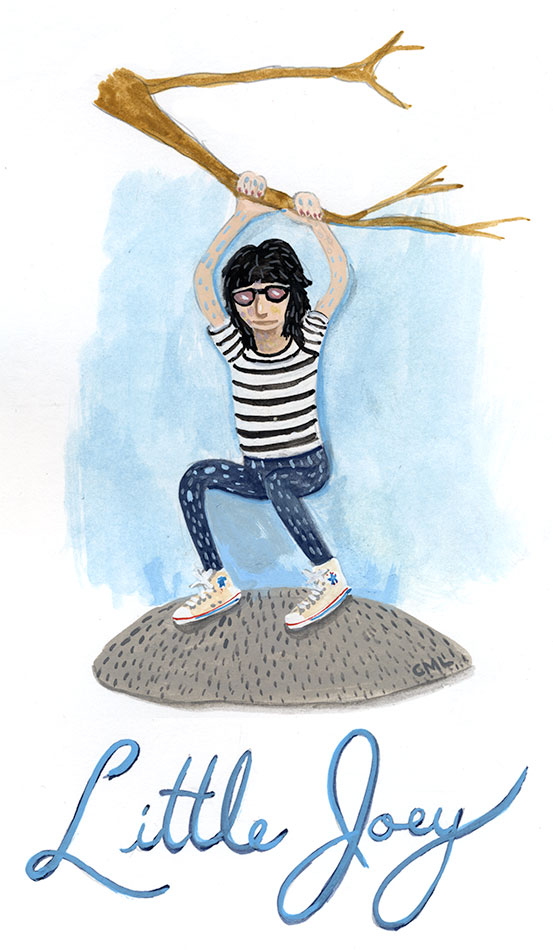 Little Joey Ramone illustration by Christine Marie Larsen