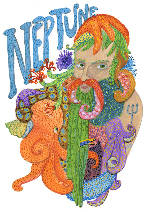 Christine Marie Larsen Illustration of a sexy Neptune