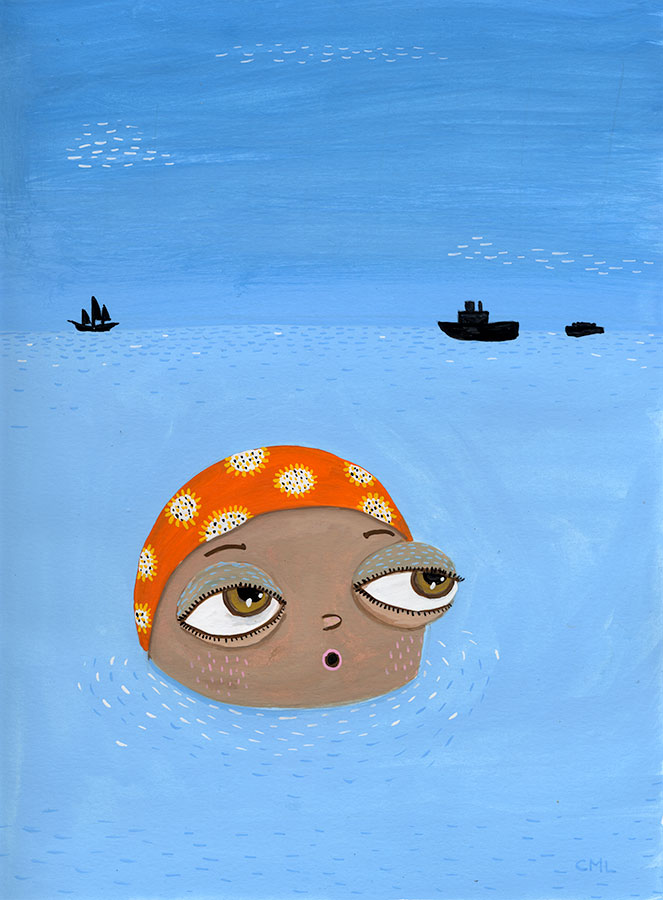 Long Distance Swimmer Illustration Christine Marie Larsen