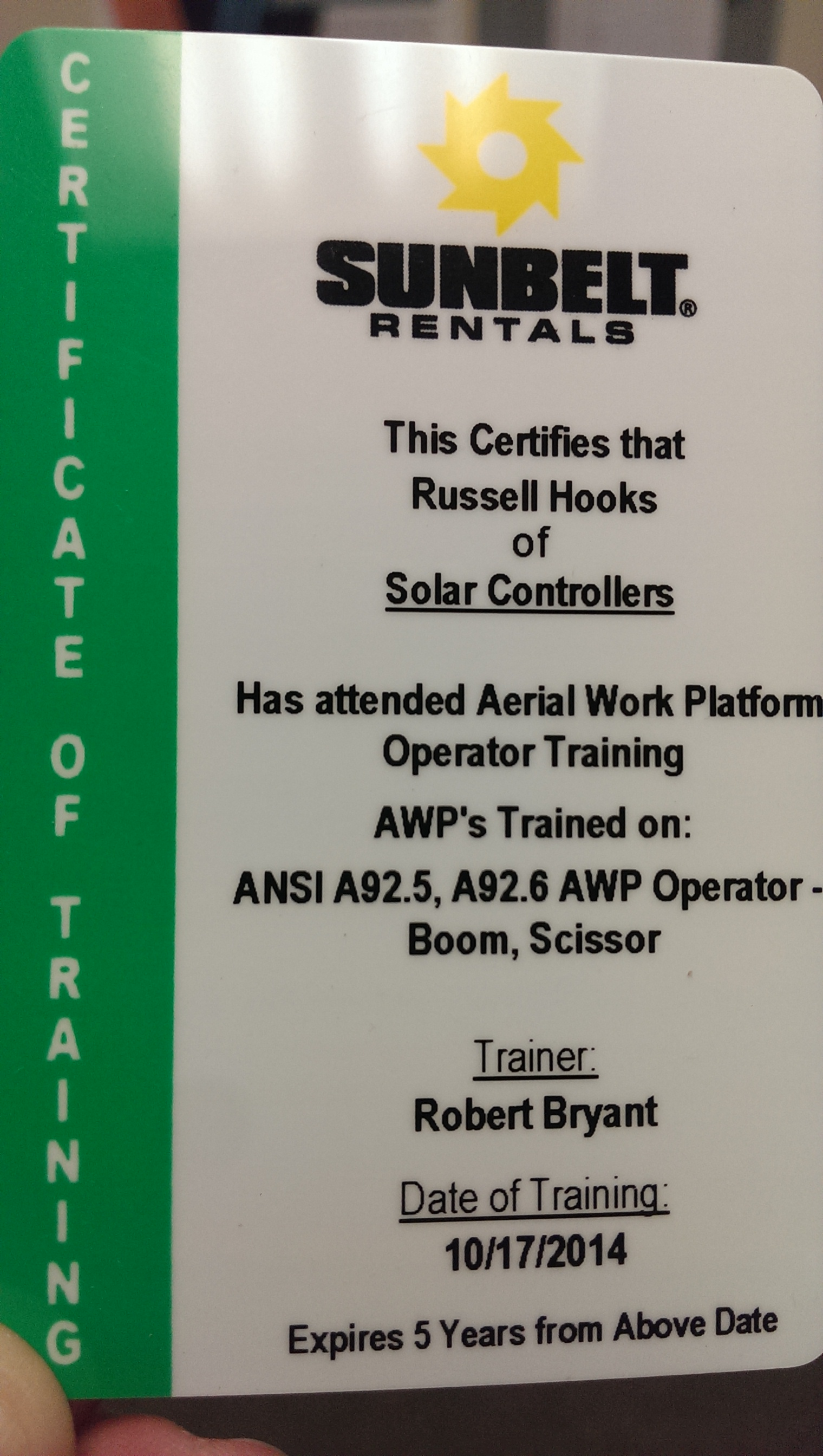 Congratulations To Russell Hooks Blog Solar Controllers