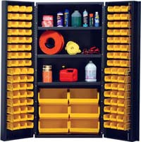 Quantum Storage Systems, All-welded bin cabinets, all welded bin cabinets, 14 gauge cabinets