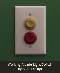Working Arcade Light Switch by AlephDesign