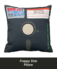 Floppy disk pillow