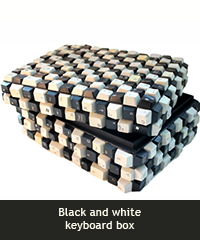 Black and white keyboard box