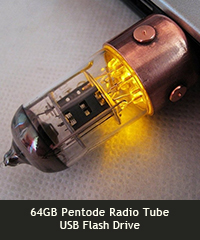 64GB Pentode Radio Tube USB Flash Drive