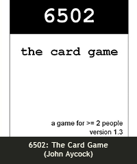 6052: The Card Game (John Aycock)