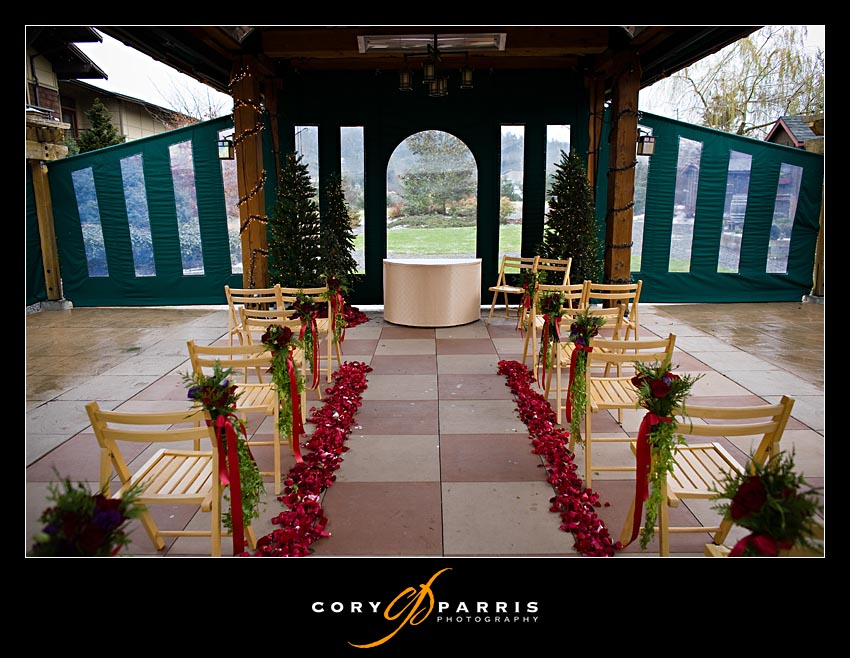This is the inside of the outdoor wedding space