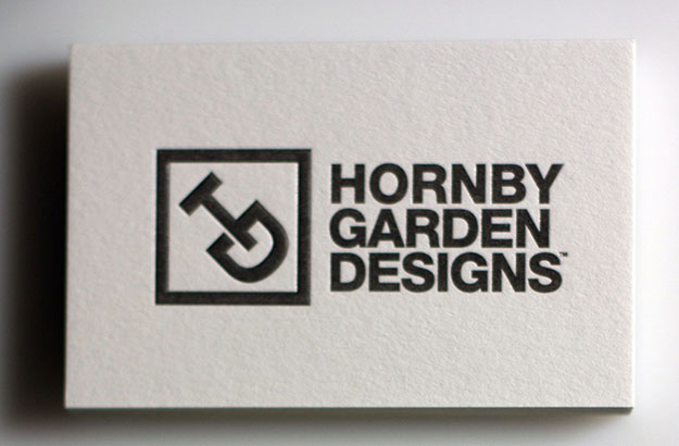 hornby garden designs website by freelance creative designer tim marner - Garden Design Business Cards