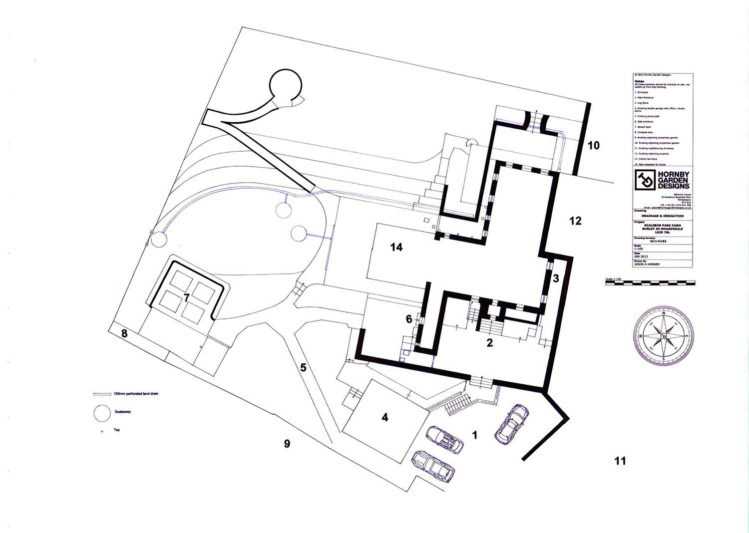 Garden drainage plans pdf for Drainage drawings for my house