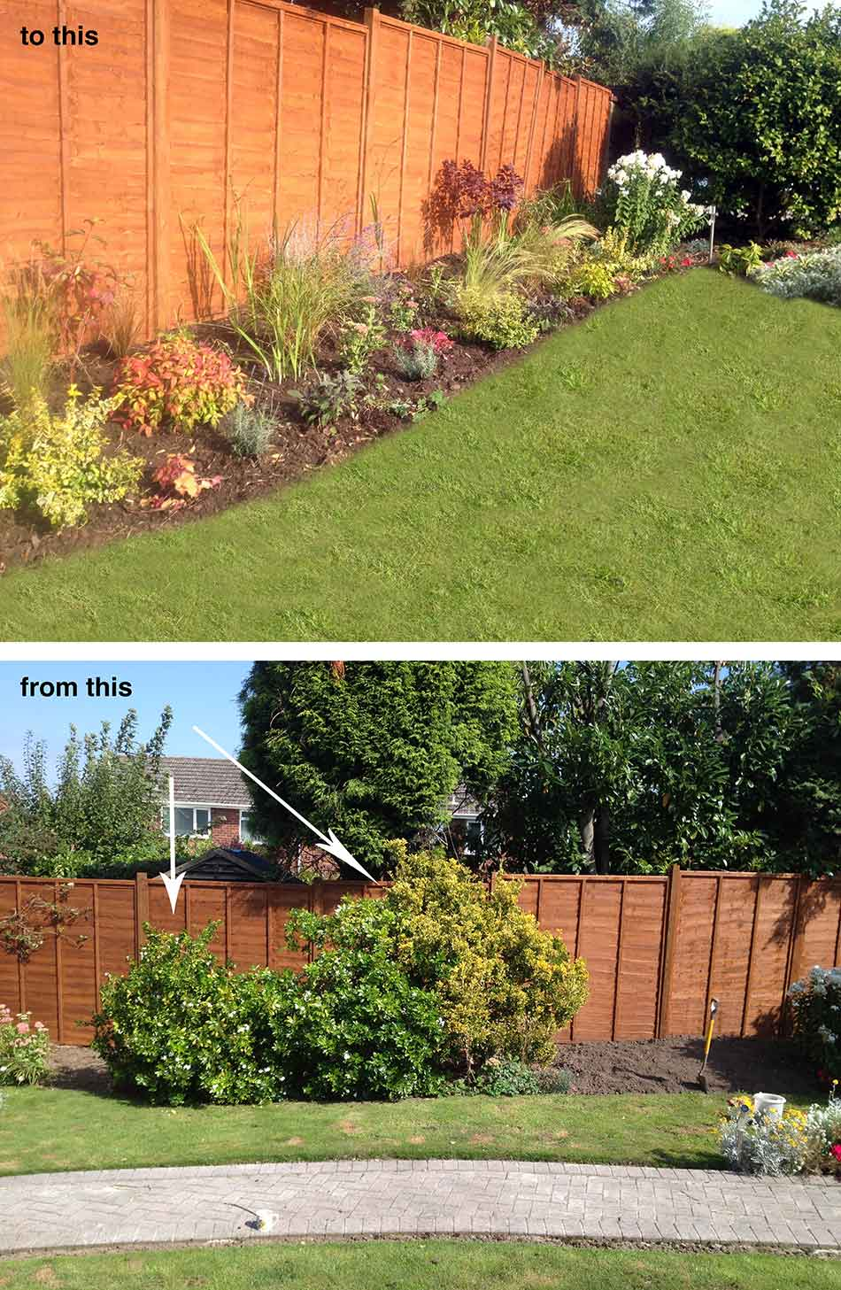 Garden design in telford hornby garden designs garden for Low maintenance border shrubs