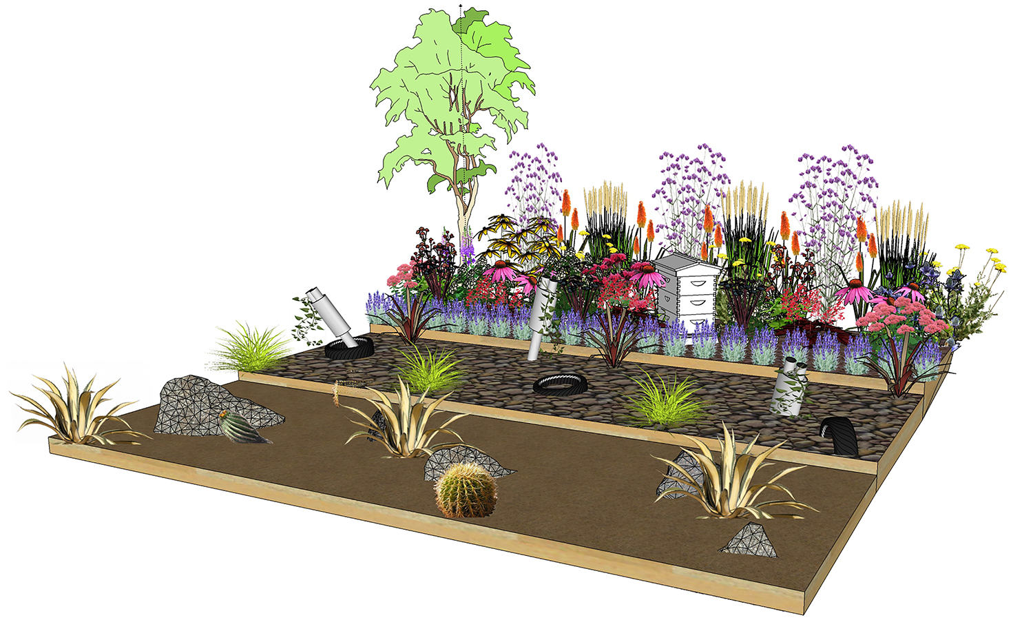 Shrewsbury flower show hornby garden designs garden for Garden border design