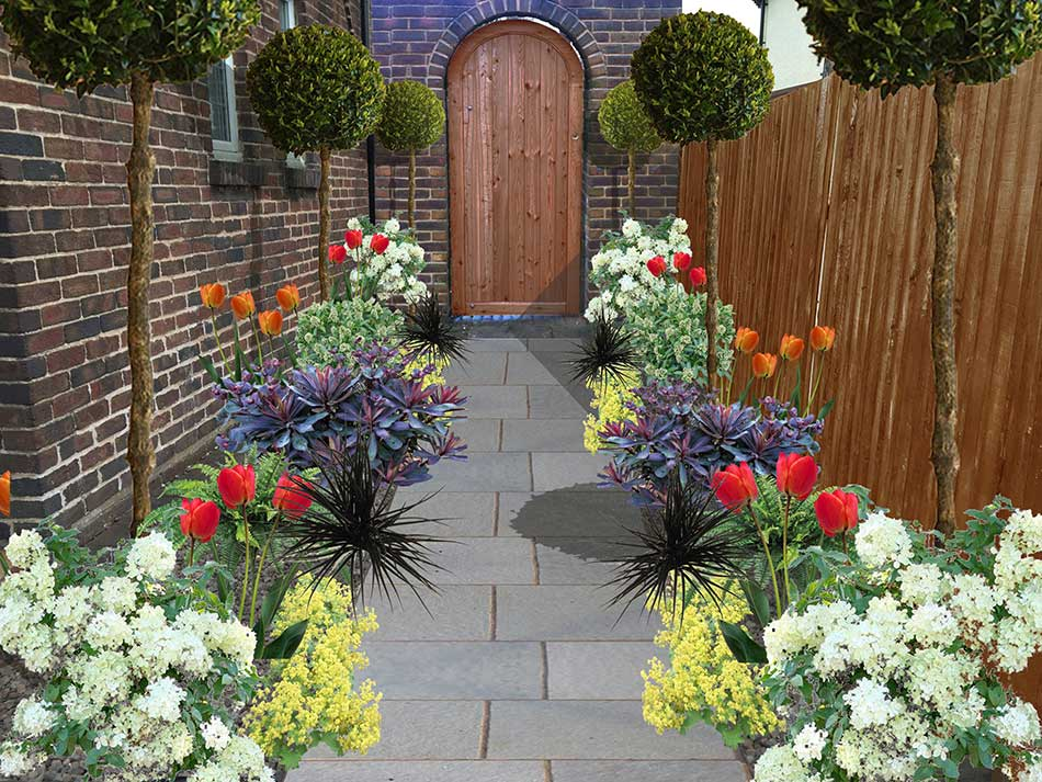 Garden pathway ideas in shrewsbury landscaping design for Garden planting ideas uk