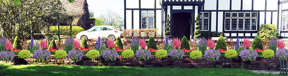 Dazzling flower beds for front of house garden design for Front garden designs uk