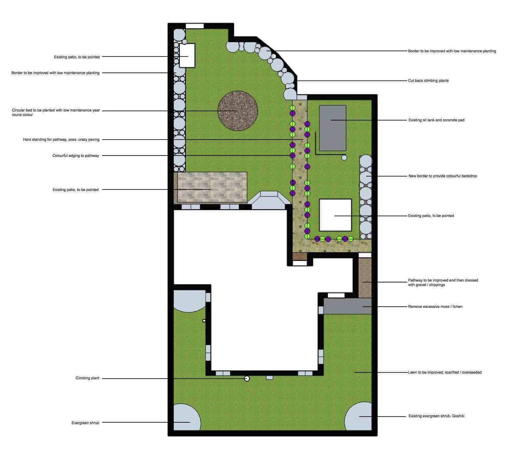 Initial Garden Design Proposal Hornby Garden Designs Garden