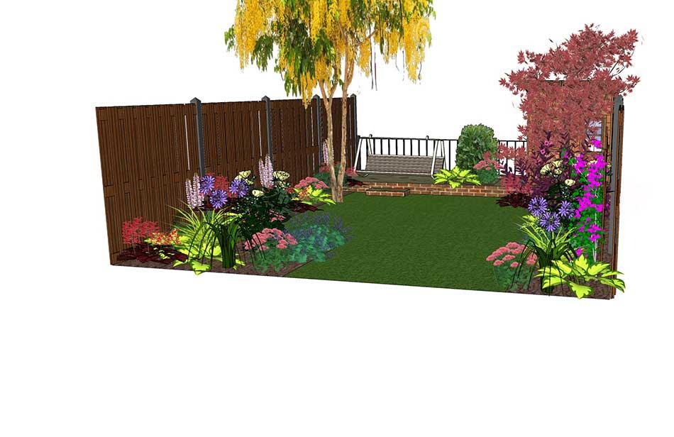 Garden Ideas 2017 Uk design visuals for a rear garden - garden border ideas