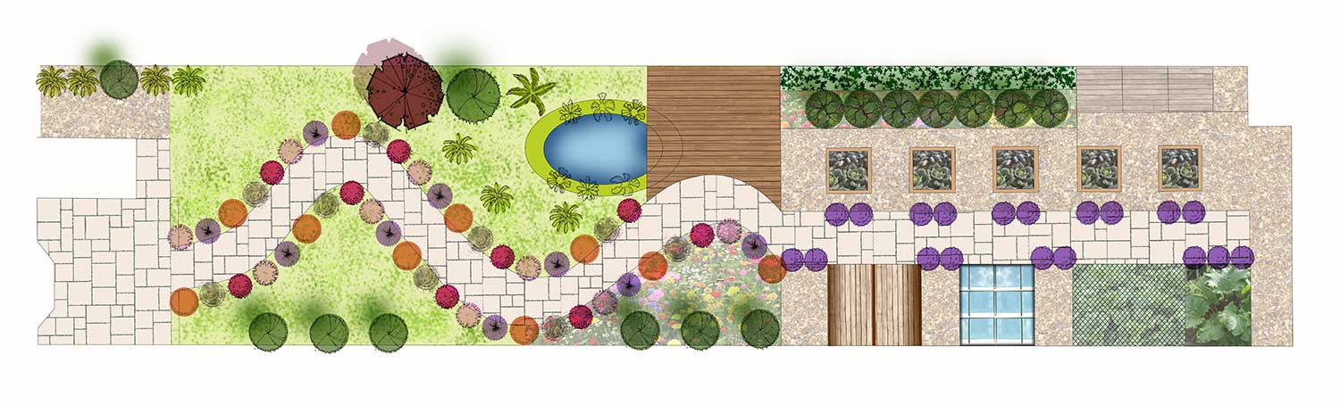 Long Thin Garden Design In Shrewsbury Hornby Garden Designs