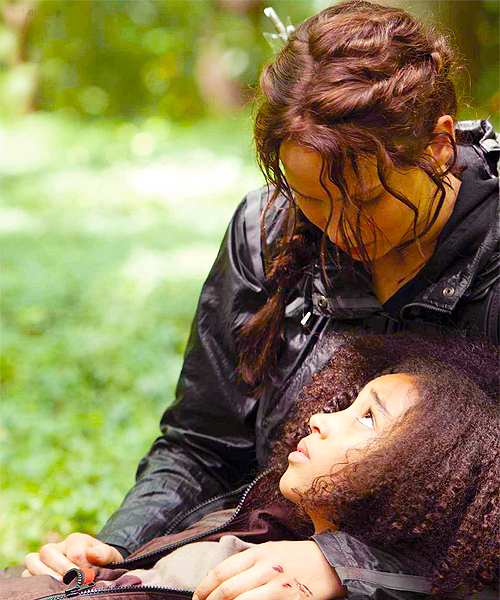 Rue katniss Amandla Stenberg Jennifer Lawrence Hunger Games