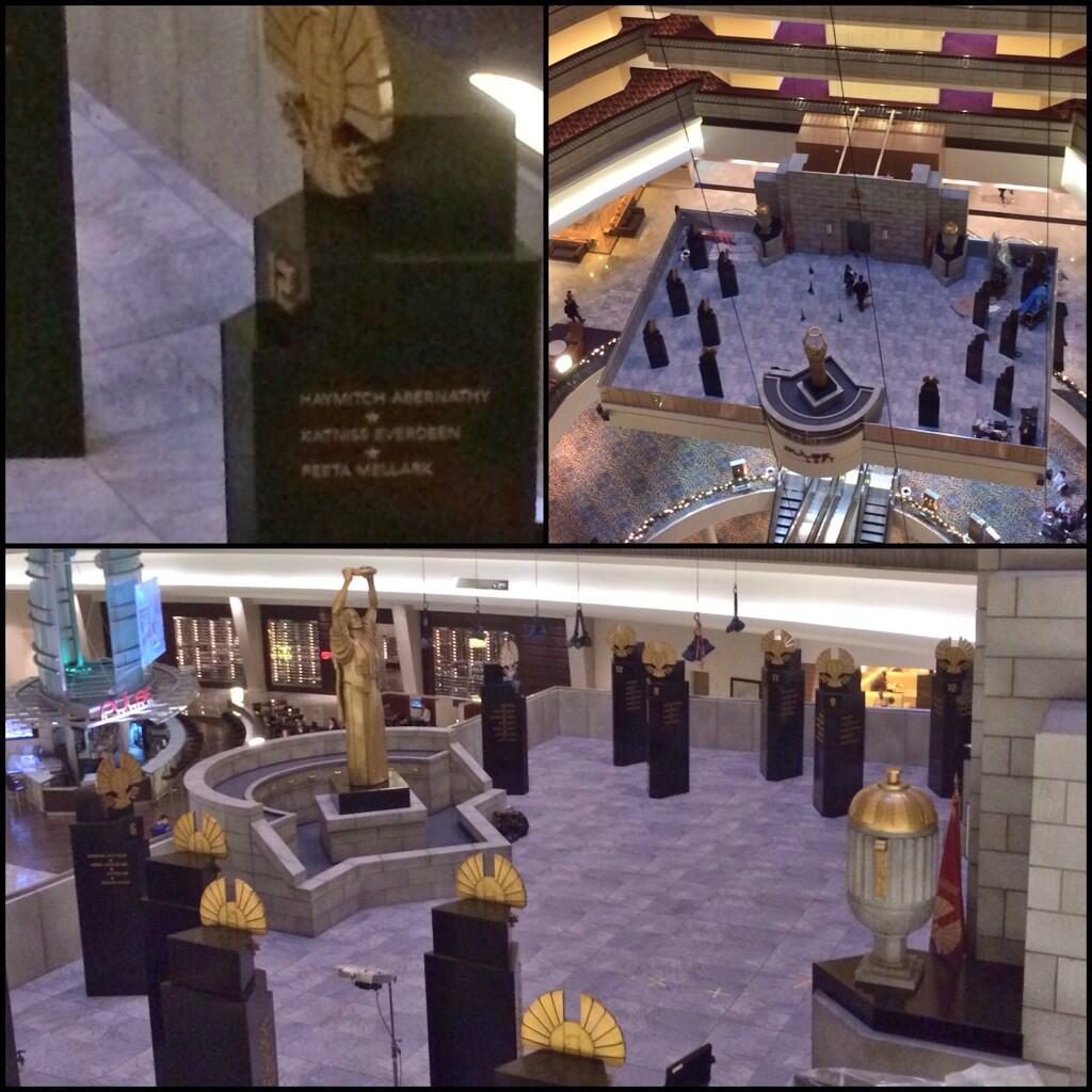 PHOTOS & VIDEO: 'Mockingjay' Set at the Marriott Marquis ...