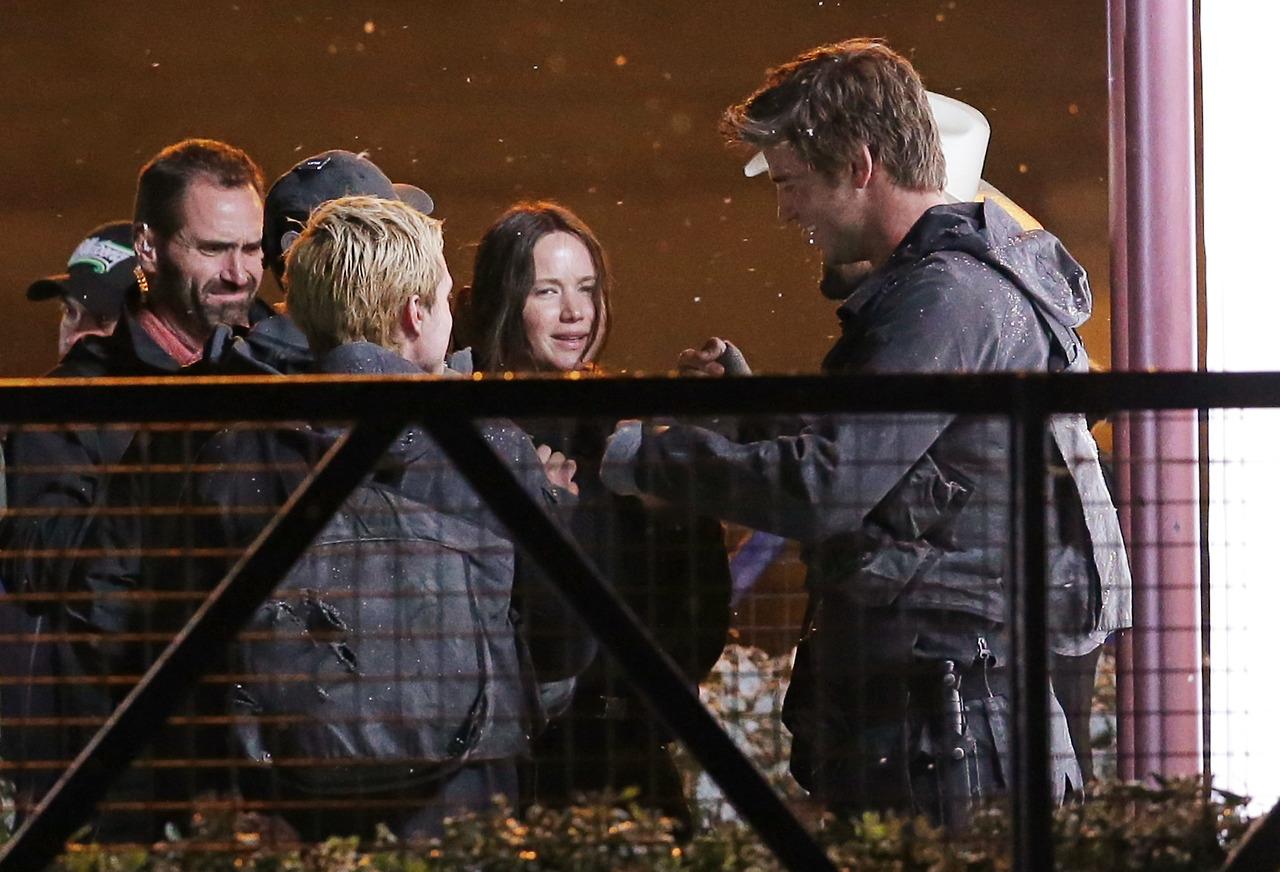 New Mockingjay Set Photos Of Josh Hutcherson Jennifer Lawrence