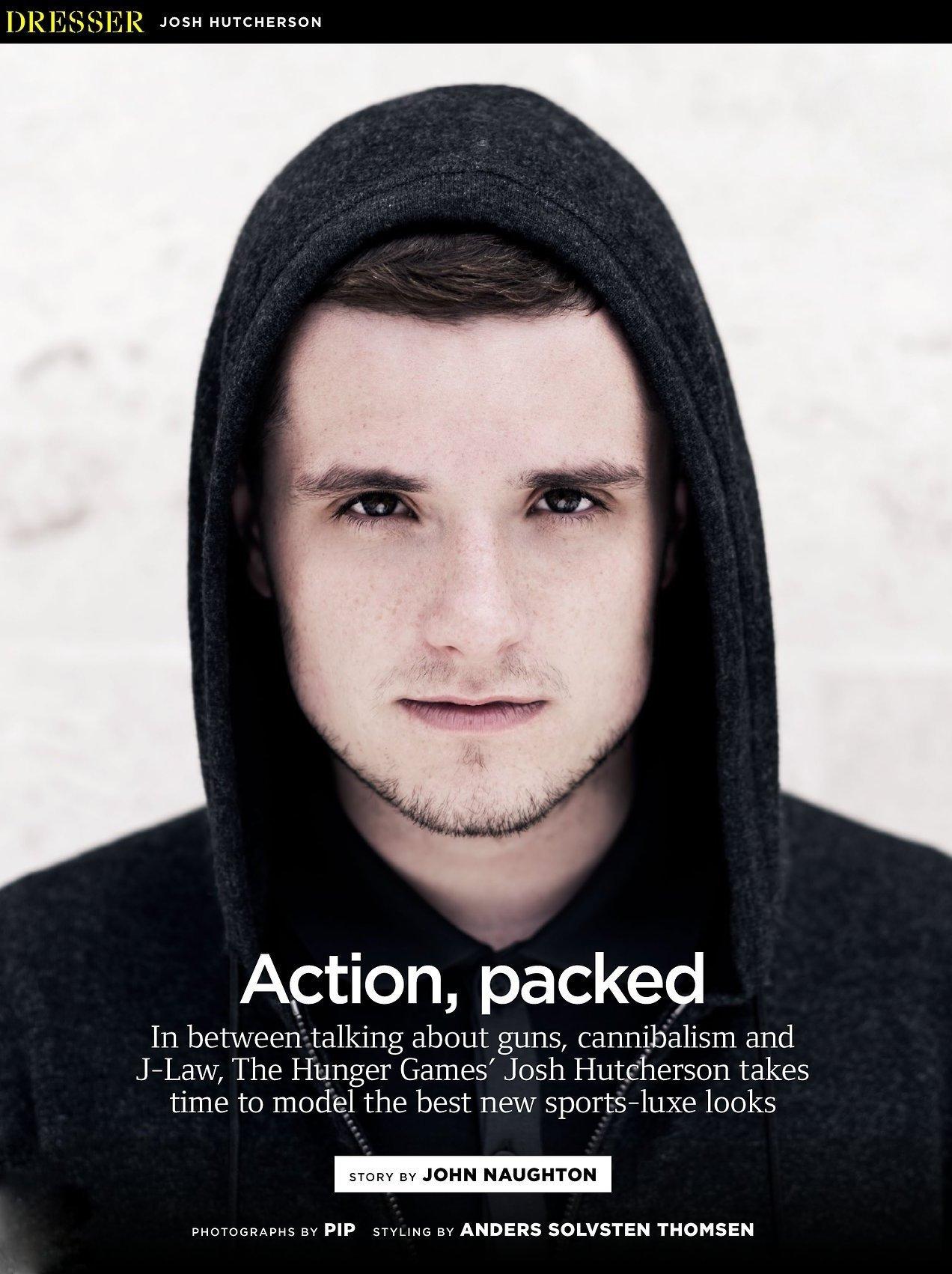 Josh Hutcherson In British Gq The Hunger Games News Panem Propaganda