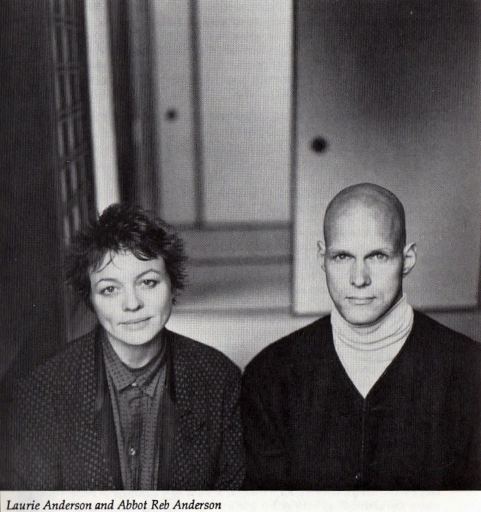 Laurie Anderson and Reb Anderson at Green Gulch Farm in 1989, from an interview published in Wind Bell