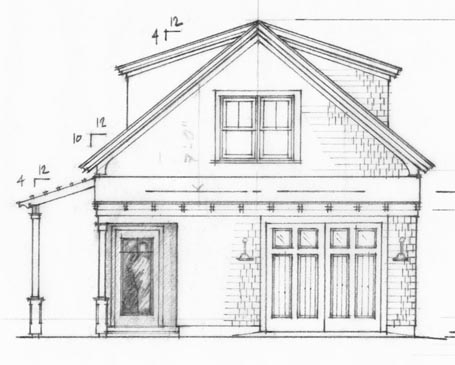 Hand Drawn on floor plans for ranch homes