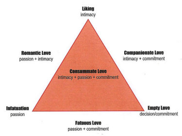 Real psychological love triangle