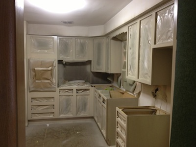 Kitchen Home Interiors. We Repaint Old And Outdated Kitchen And Bathroom  Cabinets, Change Colors, Or Paint Over Stained Wood. Repainting Your  Cabinets Can ...