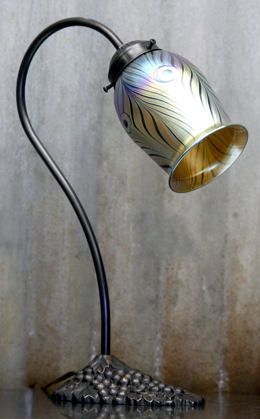 752P U2013 Gold Peacock Tiffany Tulip   2.25u201d Fitter   $220.00 U2013 5u201dH X 3.5u201dD. * Shade With Gooseneck Lamp ...