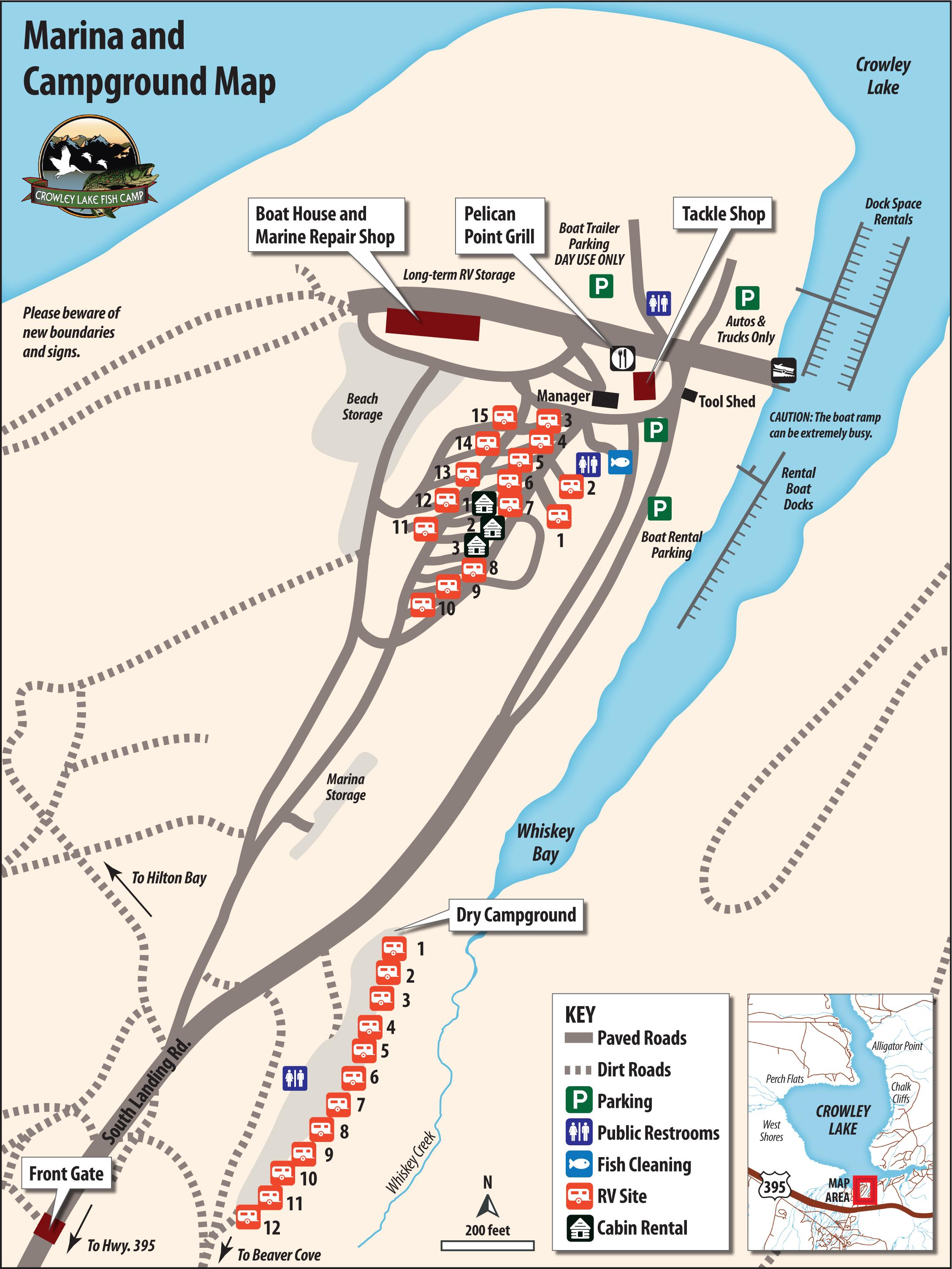 Crowley Lake Fish Camp Maps
