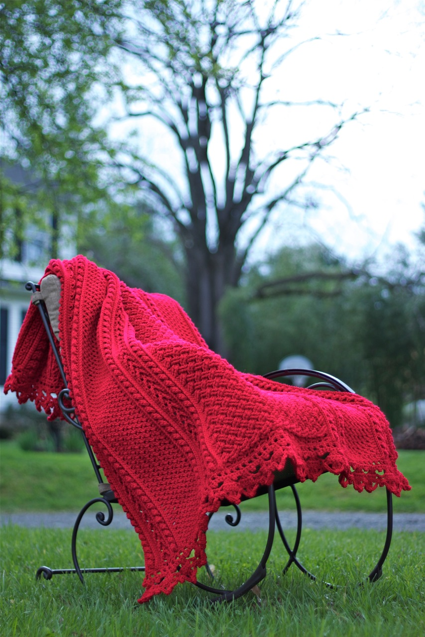 Bonnie Bay Crochet - Blog - A New, FREE Holiday Cables Throw Pattern ...