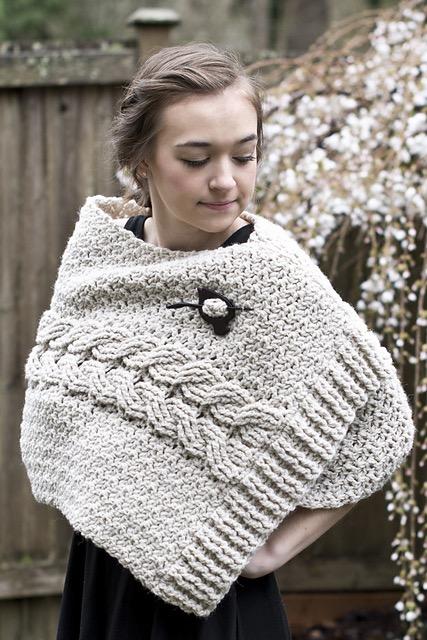 Bonnie Bay Crochet Blog New Catrina Cabled Wrap Free Pattern