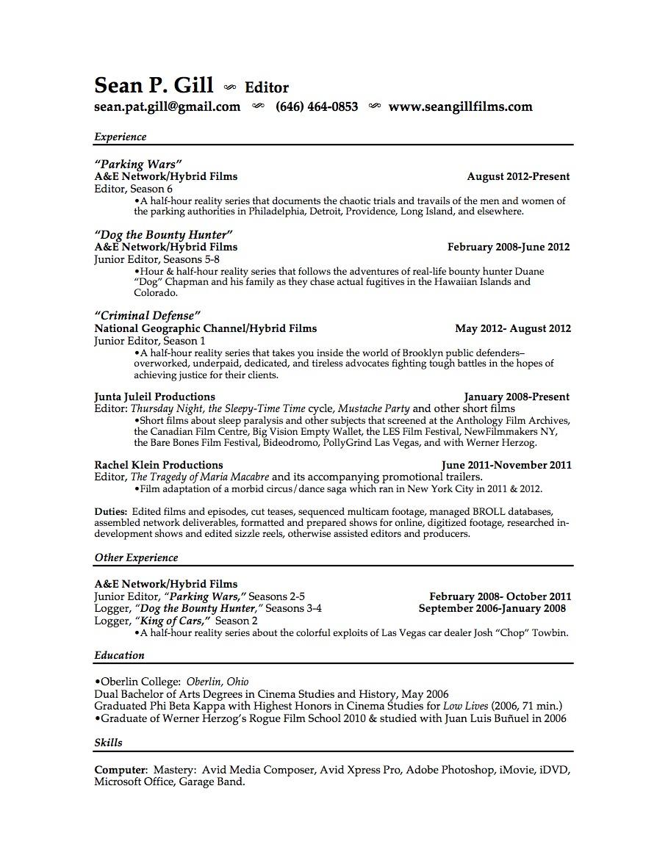 film editor resume samples template short cover letter for resume format writing best short cover letter