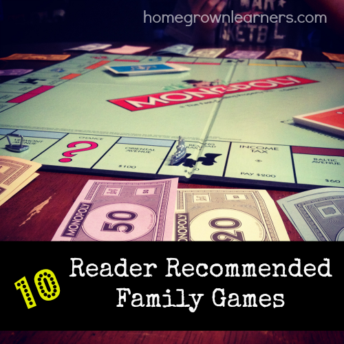 10 Reader Recommended Family Games