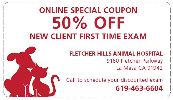new client discount veterinarian services la mesa ca. Black Bedroom Furniture Sets. Home Design Ideas