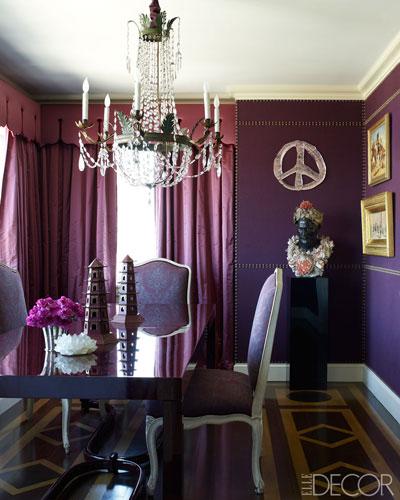 Glamorous Monochromatic Dining Room By Alex Papachristidis Via Elle Decor