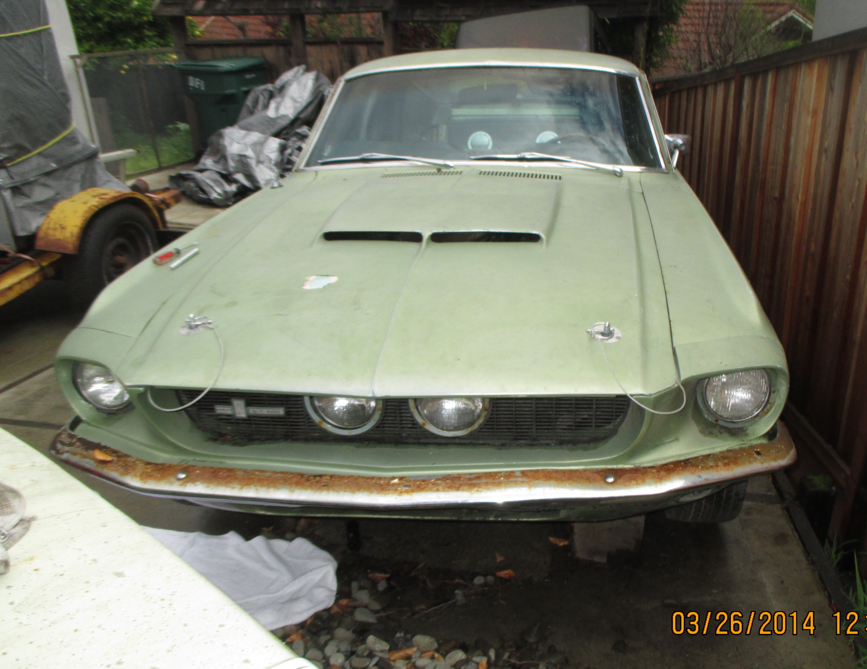 1967 Ford Shelby GT500 Mustang Full Owner History Barn Find Off Road Since 1969 Born With Drive Train Documented Very Low Mileage Restoration To OEM