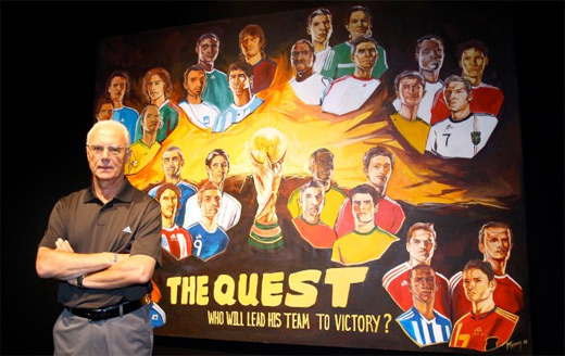 d7e7290109 In Johannesburg this afternoon, Der Kaiser - Franz Beckenbauer helped kick  off adidas Football's 2010 FIFA World Cup™ Live Quest.