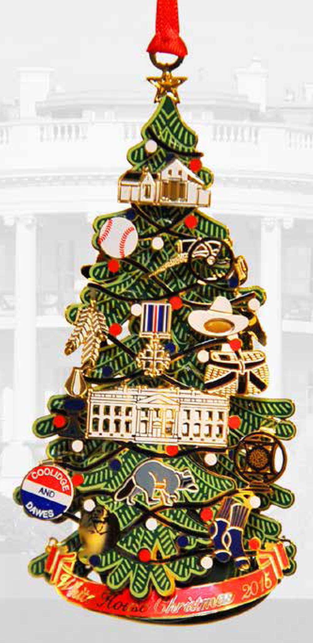 White house christmas ornaments historical society - The White House Christmas Ornament 2015