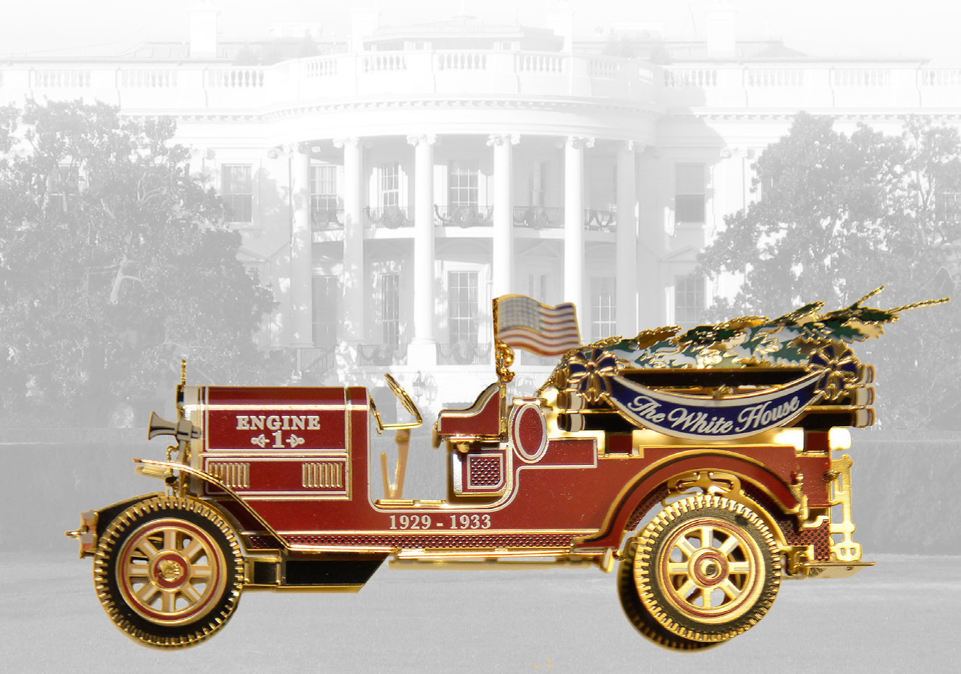 White house christmas ornaments historical society - The 2016 White House Christmas Ornament Honors The Administration Of Herbert Hoover Who Served As The Thirty First President From 1929 1933
