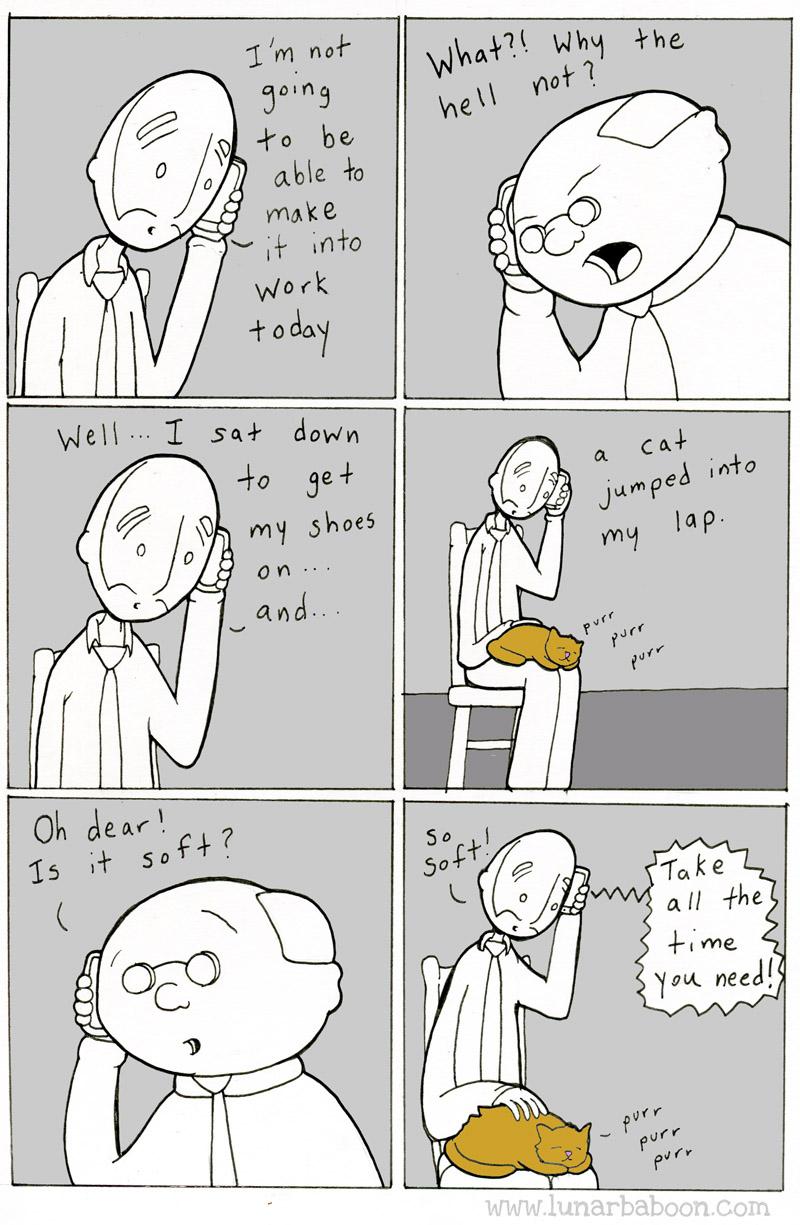 Petting A Cat Comic