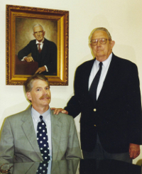 Sims Lanier and his grandfather Robert.
